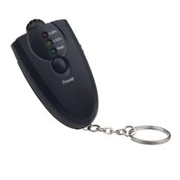 Alcool trousseau à vendre-Scolour gros-LED alcootest Analyzer alcool testeur avec lampe de poche KeyChain FreeshippingWholesale