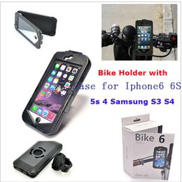 Wholesale Best Bike6 Bicycle Motorcycle Scooter Handlebar Mount Holder ABS Protective Case for iPhone6 iPhone6 Plus Waterproof Bag Cover