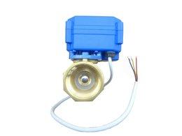 Wholesale misol motorized ball valve brass G3 quot DN20 BSP reduce port way CR02 electrical valve