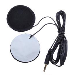 Wholesale Control de volumen para MP3 Teléfono Música altavoz mm casco de la motocicleta Auriculares Plug Nadie pista