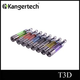 100% Original New KangerTech kanger T3D Atomizer Dual Coil Colorful Clearomizer With Changeable Rebuidable Dual Coils Atomizer