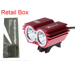 Wholesale SolarStorm X2 Cree bike light lumens XML T6 LED bicycle Light linterna front bike lights with battery pack for cycling with retail Box