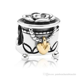 Cute Heart Love Shape Personalized 925 Sterling Silver European Bead Charm Jewelry Compatible For Snake Bracelet Chain