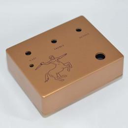 Wholesale 5PCS SET Diecast Aluminum Effects Pedal Project Box DIY Guitar Pedal Cover Case Golden