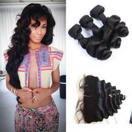 Russian loose wave Hair Frontal Closure Softest 13x4 Free Middle Three Part Lace Frontal Cheap Russian Hair Weave Bundles G-EASY