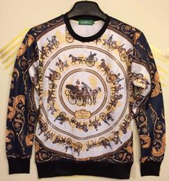 w1215 [Magic] Royalty Horse Team Big Round Palace Flowers print sweatshirts women men 3d sweatshirt casual hoodies free shipping