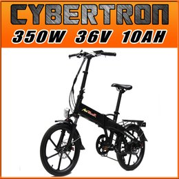 Wholesale Four Gifts Addmotor CYBERTRON C350 Platinum Black Folding Stelth Battery Luggage Rack E bike W V AH quot Electric Bicycle