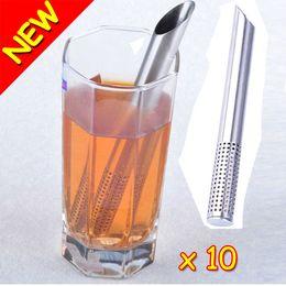 Wholesale New Novelty Filter Tea Balls Stainless Steel Tea Strainers Oblique Tea Stick Tube Tea Infuser Steeper GIFT Hot Promotion