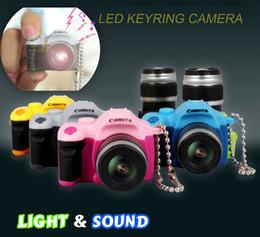 2017 anillo de luz led de la cámara Cámara flash de luz LED de luz SLR llaveros llavero anillo de juguete colgante Fun Soundly linterna del cumpleaños del niño del regalo de la promoción anillo de luz led de la cámara oferta