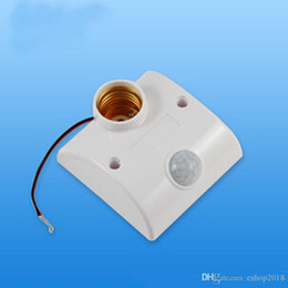 Wholesale Infrared Motion Automatic Sensor Light Lamp Bulb Holder Stand Switch White PIR E27 Lamp switch