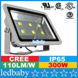 Hot Selling CREE Led Outdoor Floodlights 300W Canopy Led Lights Waterproof Led Square Tunnel Lights AC 110-277V UL Free DHL FEDEX