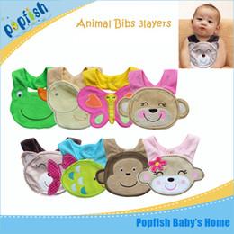 Wholesale Hot Sale Baby Bibs Cartoon Animal Infant Baby Bibs Layers Infant Saliva Towels Baby Burp Cloths