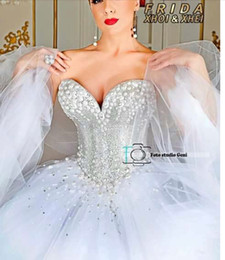 Princess Ball Gown Wedding Dresses White Ivory W1441 Gorgeous Hot Summer Modern Sleeveless Princess Top Made US2 4 6 8 10 12 14 16 18++