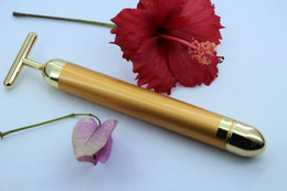 Face slimming & face lift & skin tightening 24k gold beauty bar vibration face massage roller wrinkle facial care machine