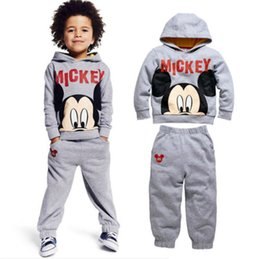 Wholesale Cute New Baby Kids Boys Mickey Mouse Sport Tracksuits Outfit Sets For Y
