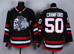 2017 série de hockey Blackhawks # 50 Corey Crawford Maillots Maillots 2014 Hockey Stadium Series maillot blanc crâne tête Ice arrivée de nouveaux outddor Kits uniformes bon marché série de hockey