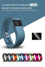 Mi bracelet de bande en Ligne-Nouveau TW64 Bracelet étanche Smartband Sport Bracelet sain Smart santé Tracker Pour Samsung iPhone IOS Android Fitbit flex xiaomi mi bande
