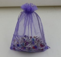 Wholesale Hot Sales Purple With Drawstring Organza Gift Bags x9cm x11cm x18cm x23cm x30cm b0016