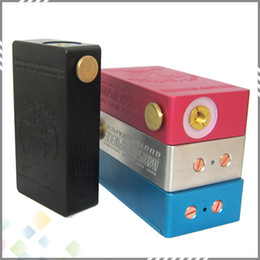 Wholesale Vaporizer Cherry Bomber Box Mod Aluminum Full Mechanical Mod fit for battery with Magnetic switch fit Atomizer SS DHL Free