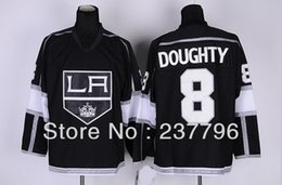 New 100% Polyester Los Angeles Kings Jerseys #8 Drew Doughty Jersey Ice Hockey Team Color Black Men's Fashion Best Quality