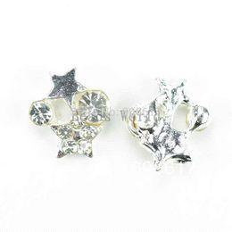 Free Shipping 20 Pcs Charms for Living Locket White Rhinestone Star 10.5x9mm Nail Art(W02965 X 1)