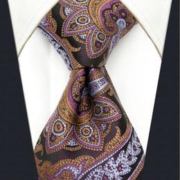 Y8 purple Floral Pattern Silk Handmade Fashion Brand New Men's Ties Necktie