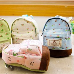Wholesale-Floral Pencil bag School case Zakka mini wallet Coin purse Flower Schoolbag wallet change purse Stationary School supplies 6326