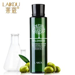 Wholesale ml Super Bargain Deep Cleansing Water Temperature and Clean Olives Eyes Lips Face Cream Makeup Remover oil