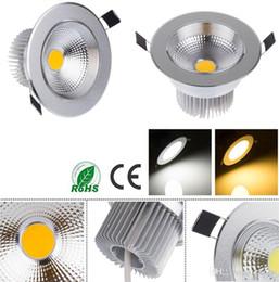 Descuento cree llevó la garantía CREE COB LED Downlight regulable 3W 5W 7W 9W 110V 220V de aluminio de plata LED del techo del punto de luz 110LM / W con 3 años de garantía