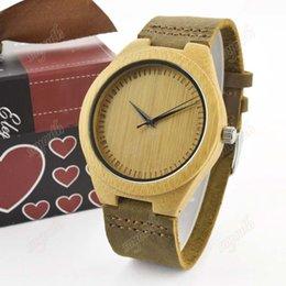 2016 relojes de bambú venden como relojes de la correa de cuero de alta calidad forma la tabla de madera superventas Europa y América del estilo libre sh desde mejores relojes de moda de calidad fabricantes
