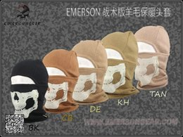 Wholesale EMERSON tactical version of wool thermal head Fleece Warmer Hood airsoft wargame field face mask colors
