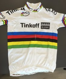 Wholesale 2015 TINKOFF SAXO BANK PRO TEAM PETER SAGAN UCI CHAMPION ONLY SHORT SLEEVE ROPA CICLISMO SHIRT CYCLING JERSEY CYCLING WEAR SIZE XS XL