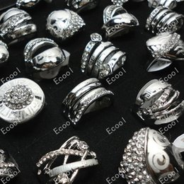 New Sale Fashion Pave Setting Rhinestone Silver Plated Rings For Women Jewelry Wholesale Pack Bulk LR198