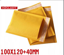 Wholesale kraft paper bubble packaging bag padded wrap envelope air mailer self adhensive tape flat bag x120mm mm