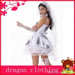 Wholesale Dark Bridal Theme Costume Halloween Cosplay Suits Game Uniforms Temptation Masquerade Party For Adult w Gray
