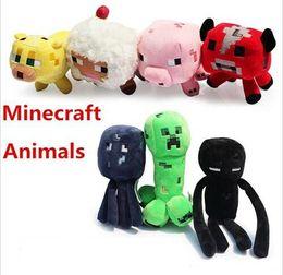 Wholesale Minecraft Enderman creeper Mooshroom sheep squid cow pink doll pig quot Baby Pig Piggy Stuffed animals styles plush toys