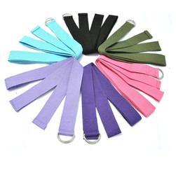 Wholesale factory for cotton Yoga Stretch belt Yoga Resistance Bands Yoga supplies multiple colors can be selected