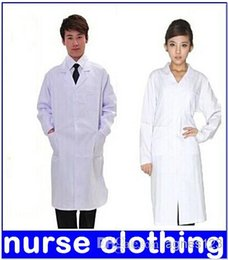 Wholesale Medical white coat clothing physician services uniform nurse clothing long sleeve polyester protect clothes NEWtop sale