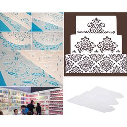 Wholesale Anself Cake Decorating Tools S043 Cake Decoration Tool Cakes Border Stencil Culinary Stencils Set H15520