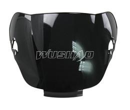 Motorcycle Double Bubble Windshield WindScreen For 1991-1994 Honda CBR600 F2 1992 1993 91 92 93 94 Black