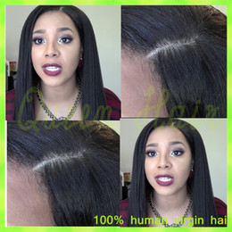 2015 Super Quality Full Lace 100% Indian Remy Human Hair Wigs Silky Straight Full Lace Wig