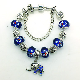 Brand New Fashion Charms Bracelets Luxury Alloy Beads Dangle Elephant Charms Infinity Bracelets For Women DIY Jewelry