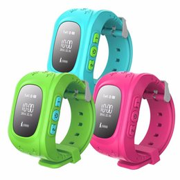 Wholesale Children GPS Tracker Smart Watchs For Blue Pink Smartwatch Wearable Devices Satellite Android Watch Iphone free DHL shiping