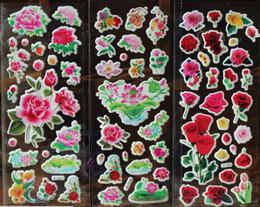 Beautiful Flower stickers floral adhesive puffy sticker kids rewards school supply album stickers