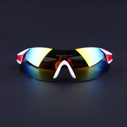 Polarized Rimless Sunglasses for Men Women UV400 Cycling Sunglasses Sport Bike Glasses Running Mountain Bike Golf Fishing, White and Red