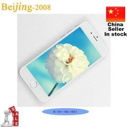 Wholesale 5 inch Goophone i6 plus i6 Quad Core MTK6582 GB GB Android Jelly Bean W Camera GPS WiFi G WCDMA Nano Sim Smart Phone