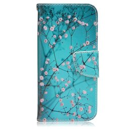 Wholesale 1pcs For Samsung Galaxy S7edge S7 iPhone s Plum Blossom Colorful Printing Case Wallet Magnet Flip Leather Case With Card Slots Pouch Stand