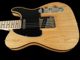 Wholesale perfect hot sell new CUSTOM PRO NOS ASH NATURAL with mahogany body one piece neck Electric guitar