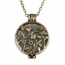 Magic Flower Fairy Luminous Locket Necklace Glow In The Dark Gift Glowing Vintage Pendant Necklaces Christmas N285