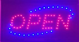 Wholesale 20PCS Animated Running LED Business OPEN SIGN On Off Switch Bright Light Neon